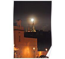 Full Moon At St.Vitus Cathedral Prague. Poster