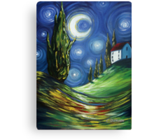 The Dreamers Night Sky Canvas Print