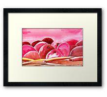 Peach fuzzy Framed Print