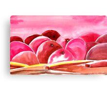 Peach fuzzy Canvas Print