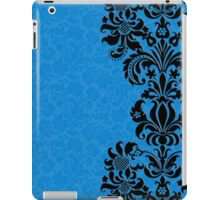 Blue & Black Vintage Floral Damasks iPad Case/Skin