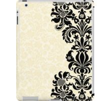 Black & Beige Vintage Damasks Design iPad Case/Skin