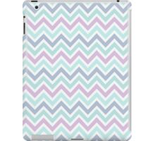 Pastel Green And Pink Classic Chevron Pattern iPad Case/Skin
