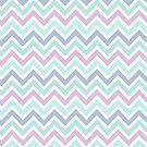 Pastel Green And Pink Classic Chevron Pattern 2 by artonwear