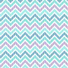 Pastel Green And Pink Classic Chevron Pattern 3 by artonwear