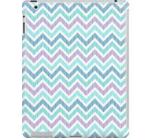 Pastel Green And Pink Classic Chevron Pattern 3 iPad Case/Skin