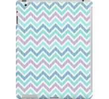 Pastel Green And Pink Classic Chevron Pattern 3 iPad Case/Skin