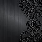 Black & Gray Vintage Floral Damasks by artonwear
