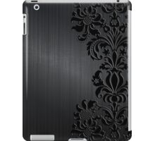 Black & Gray Vintage Floral Damasks iPad Case/Skin