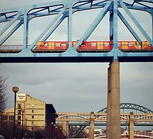 Newcastle Quayside and Metro by TehRen