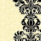 Black & Beige Vintage Damasks Design by artonwear