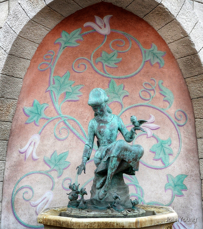 Cinderella Fountain Disneyland Paris by JohnYoung
