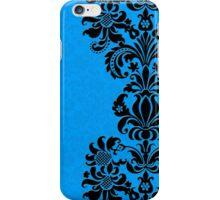 BLack & Blue Vintage Damasks Design iPhone Case/Skin