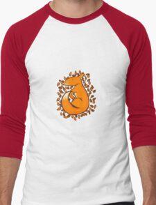 Sleeping Fox Men's Baseball ¾ T-Shirt