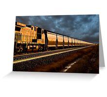 Train at Sunset Greeting Card
