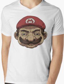 Old Mario Mens V-Neck T-Shirt