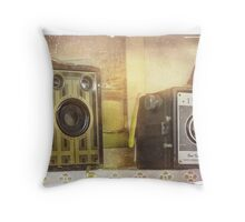 Smile, you're on candid camera Throw Pillow