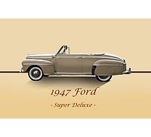 1947 Ford Super Deluxe Convertible w/ID Photographic Print