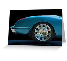 1959 Corvette Roadster Detail Greeting Card
