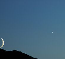 Moon & Venus Set -- Tirol Alps by PeachPark