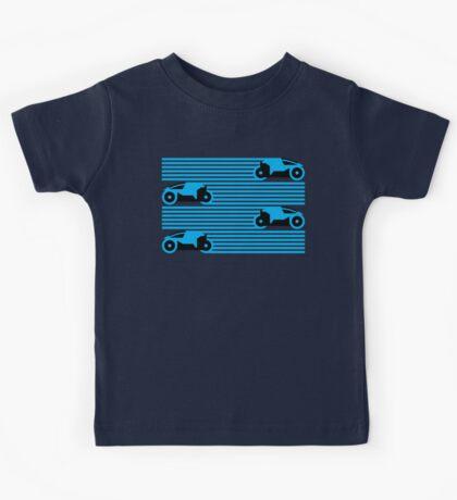 Grid Riders V2 (Blue) Kids Tee