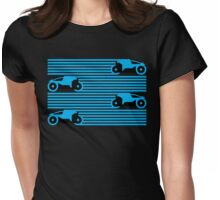 Grid Riders V2 (Blue) Womens Fitted T-Shirt