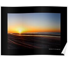Atlantic Ocean Coast Sunrise Colors - Smith Point, New York Poster