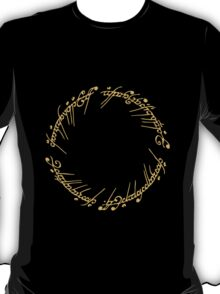 Lord of the Rings - The One Ring (Gold on Black) T-Shirt