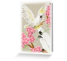 Cockatoo with Flowers Greeting Card