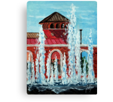Jacksonville City Hall and and Fountain. Canvas Print
