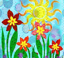 Fanciful Flowers by SRowe Art