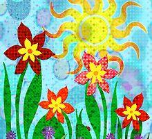 Fanciful Flowers by SRowe Art
