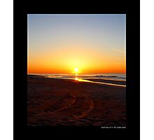 Atlantic Ocean Beach Sunrise Colors - Smith Point Country Park, New York Photographic Print