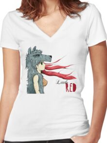 Little RED Women's Fitted V-Neck T-Shirt