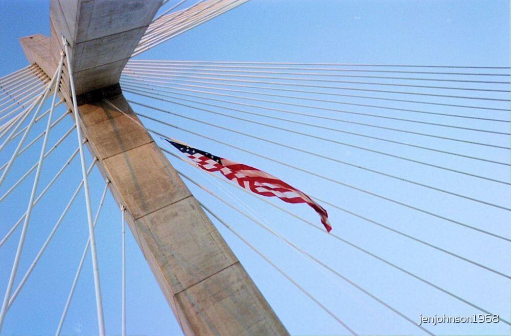 Zakim Bridge, Boston, Sept. 11, 2011 by jenjohnson1968