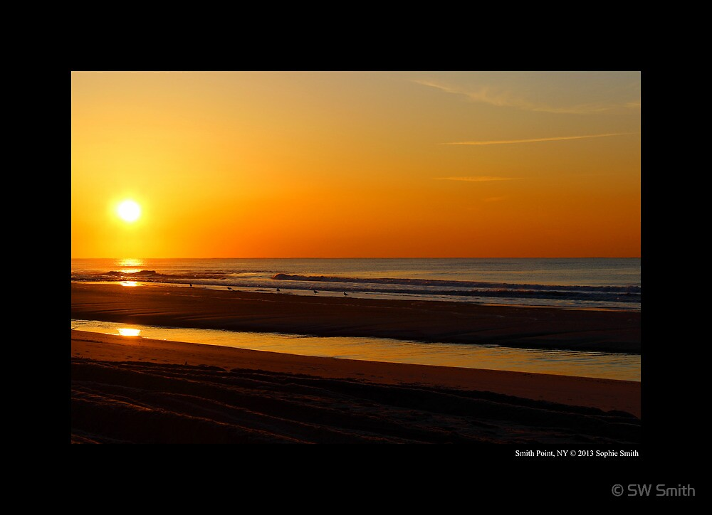 Atlantic Ocean Sunrise - Smith Point Country Park, New York by © Sophie W. Smith