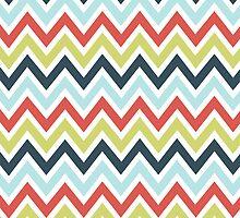 Colorful Classic Chevron Pattern by artonwear