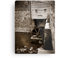 Water Wheel - West Point on The Eno, Durham, NC, USA Metal Print