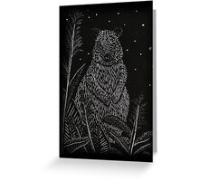 Quokka Wood Engraving Greeting Card