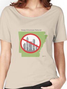 Keep Arkansas Natural (green) Women's Relaxed Fit T-Shirt