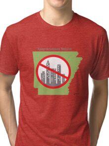 Keep Arkansas Natural (green) Tri-blend T-Shirt