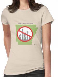Keep Arkansas Natural (green) Womens Fitted T-Shirt