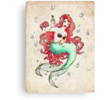 Mucha-esque Mermaid Canvas Print