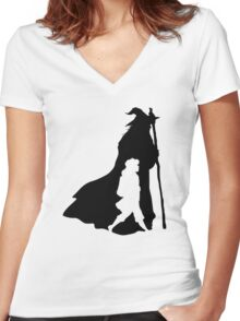 On an Adventure Women's Fitted V-Neck T-Shirt
