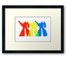 Optimus Prime Colors Framed Print