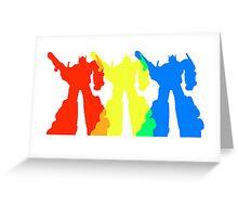 Optimus Prime Colors Greeting Card