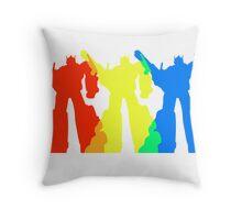 Optimus Prime Colors Throw Pillow