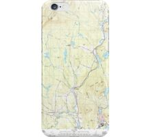 USGS TOPO Map New Hampshire NH Grantham 329582 1998 24000 iPhone Case/Skin