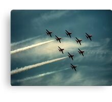 """""""Ladies and Gentleman, The Red Arrows""""  Canvas Print"""