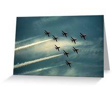 """""""Ladies and Gentleman, The Red Arrows""""  Greeting Card"""